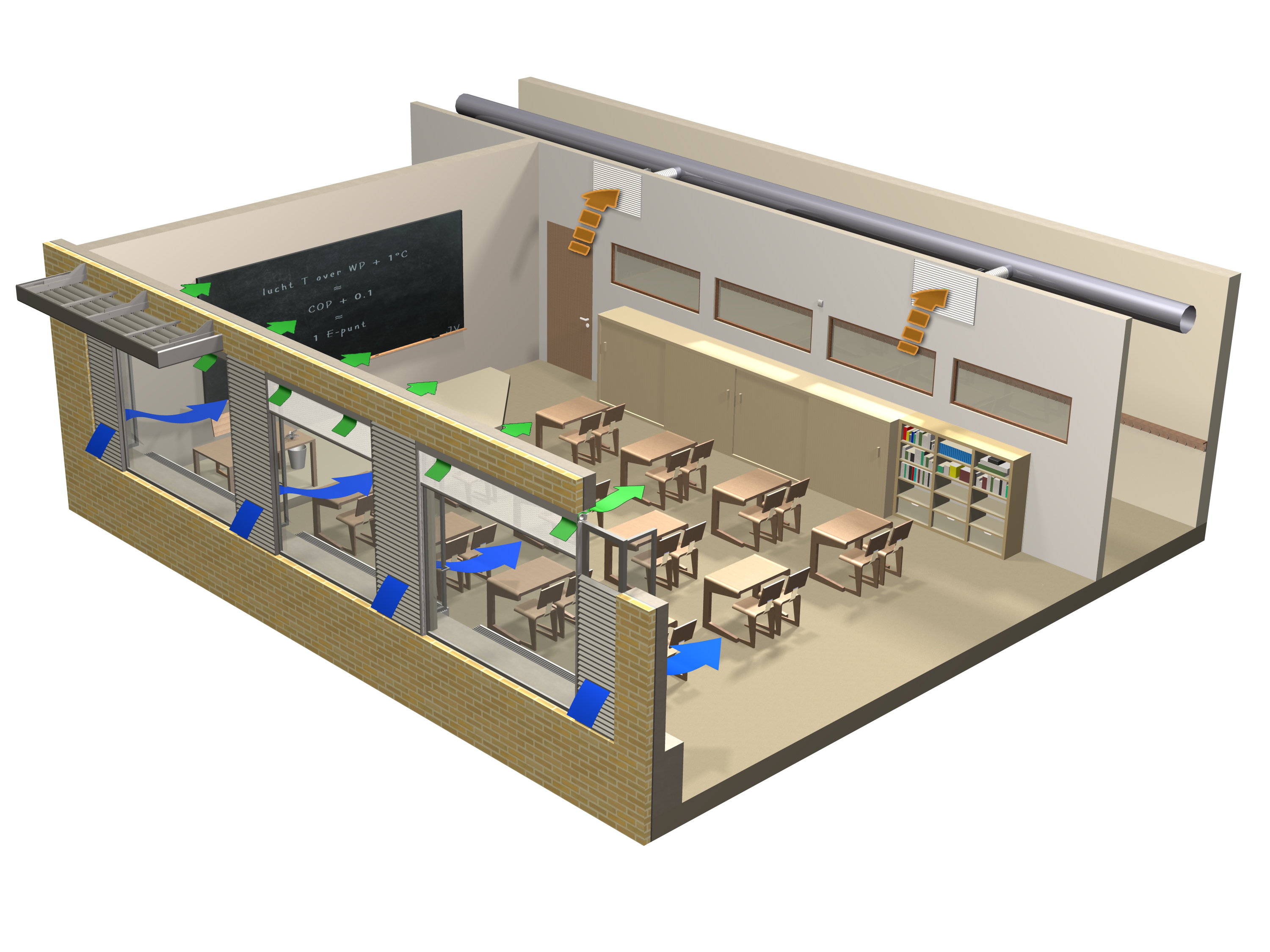 RENSON® offers energy efficient solutions for a healthy school  #0F47BC