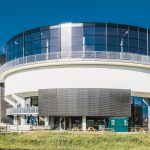 Renson Linius wall cladding at the todi diving centre (case study)